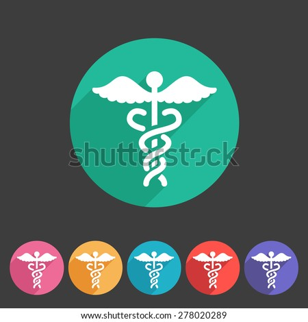 health medicine pharmacy icon badge flat symbol set - stock vector
