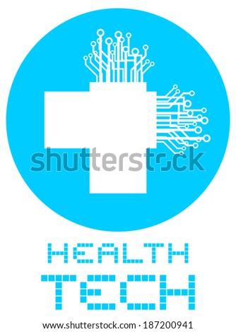 Health tech - stock vector