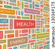 HEALTH. Word collage. Vector illustration. - stock photo