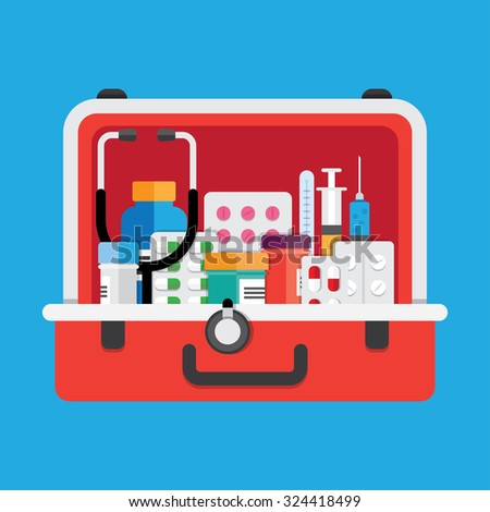 healthcare and medical equipment - stock vector