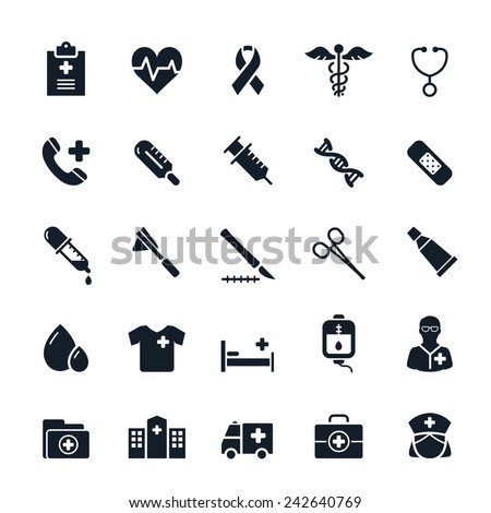 Healthcare and Medical icons Vector illustration - stock vector