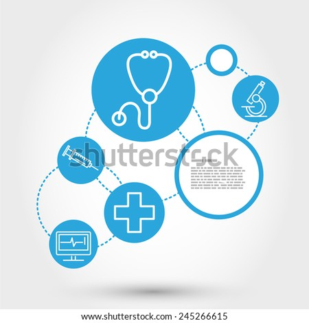healthcare circle concept with stethoscope, medical concept