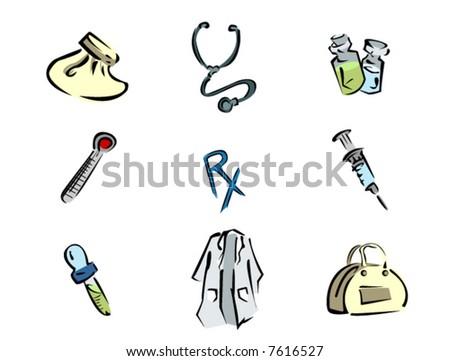 Healthcare Icons - Vector - stock vector
