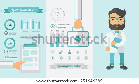 Healthcare Infographic Elements. - stock vector