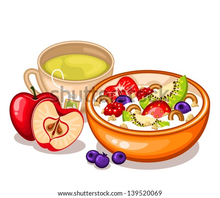 Granola Isolated Stock Illustrations & Cartoons | Shutterstock