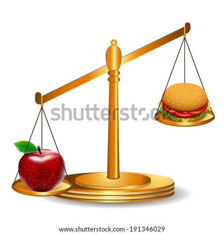 Healthy eating - stock vector