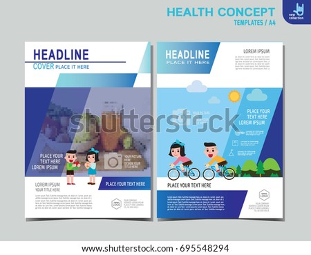 Healthy Flyer Brochure Layout Banner Poster Stock Vector