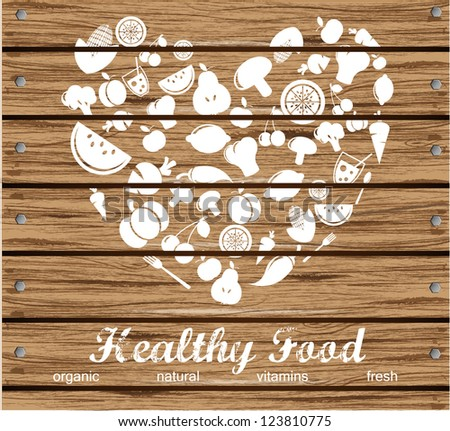 Healthy Food Background - stock vector