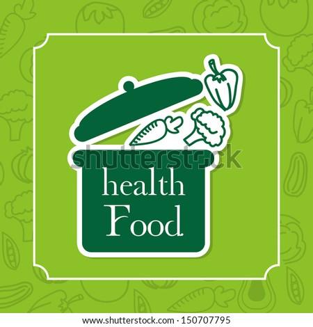 healthy food design over green background vector illustration  - stock vector