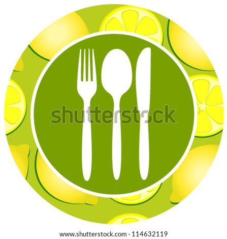 healthy food icon lemon - stock vector
