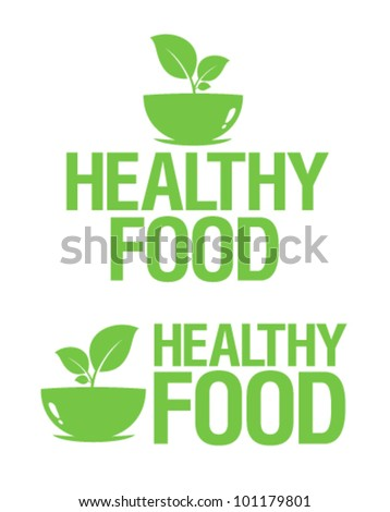 Healthy Food icons set. - stock vector