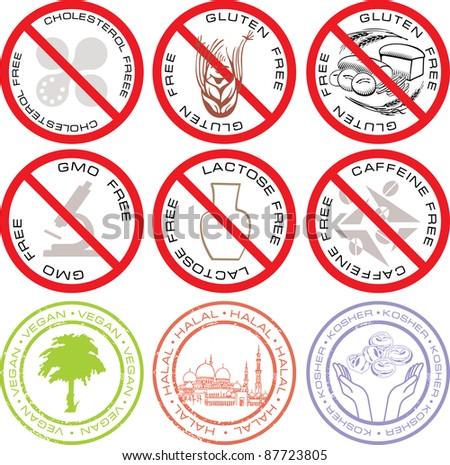 Healthy food Symbols - stock vector