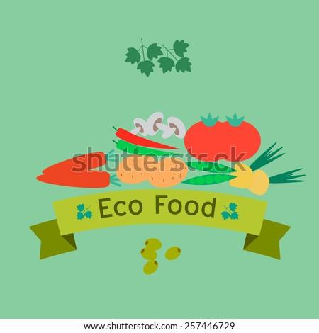 Healthy Food. Vector - stock vector
