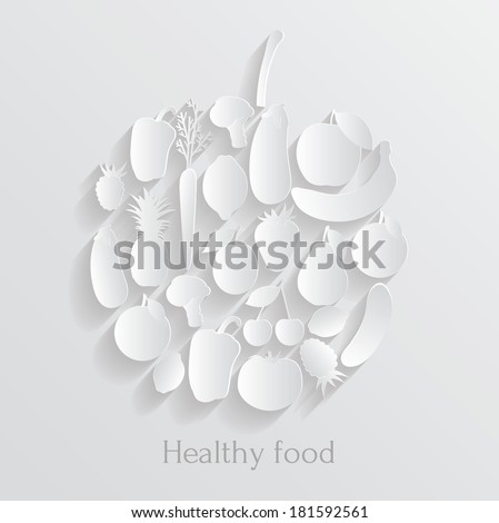 Healthy food. Vector background