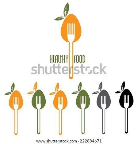 healthy food vector design template - stock vector