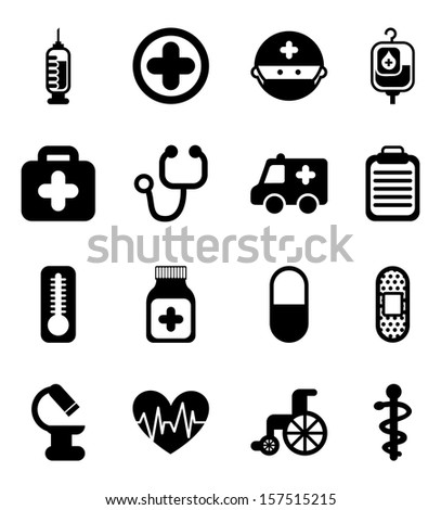 healthy icons over white background vector illustration  - stock vector