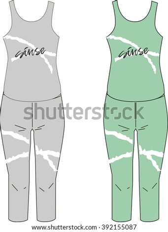 healthy lifestyle design clothing template vector stock vector