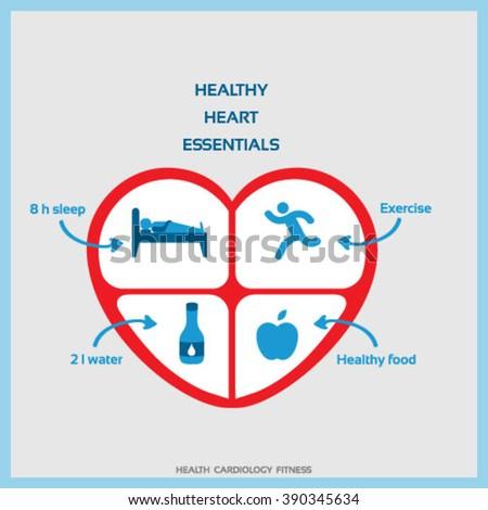 Healthy lifestyle healthy heart concept vector stock vector 2018 healthy lifestyle for healthy heart concept vector ccuart Choice Image