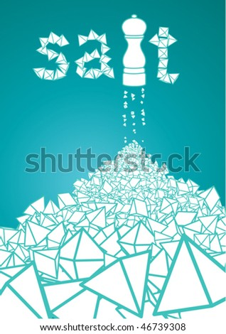 heap of sat, vector illustration - stock vector