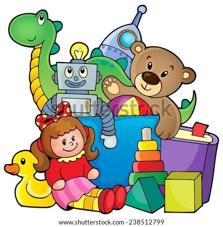 Heap of toys - eps10 vector illustration. - stock vector