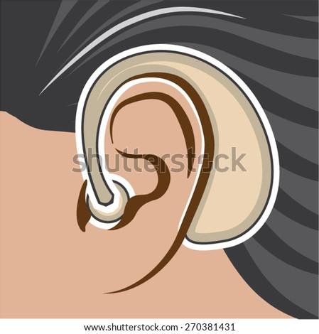 Hearing Aid - stock vector