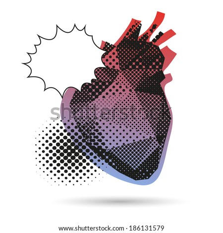 Heart abstract isolated on a white background, vector illustration - stock vector