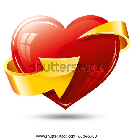 heart and arrow around it - stock vector