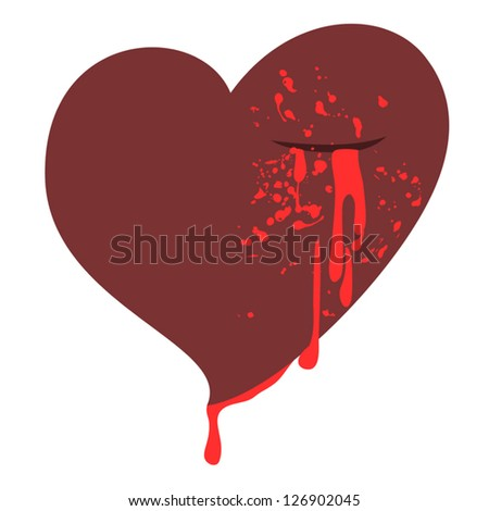 Heart and blood - stock vector