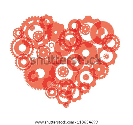 heart as a mechanism - stock vector