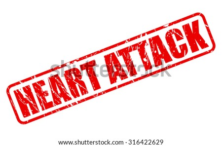 Heart Attack red stamp text on white - stock vector