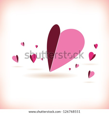 heart background - stock vector