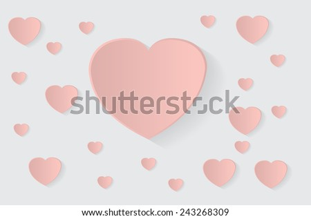 Heart background with a big heart for text inside - stock vector