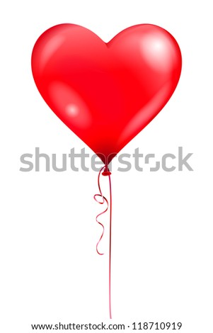 Heart balloon - stock vector