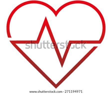 Heart Beat - stock vector