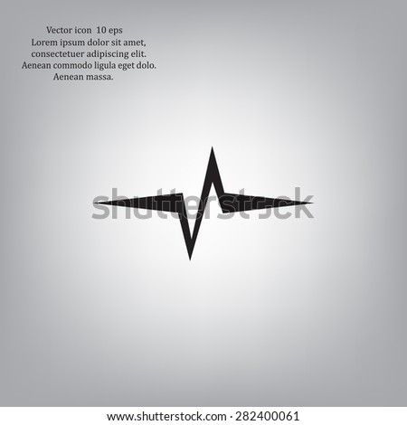 Heart beat, cardiogram. Pulse icon - stock vector