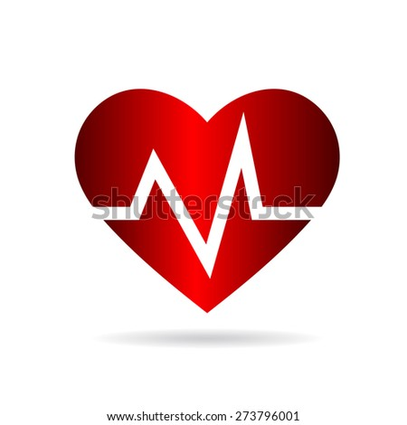 Heart beat rate,Cardio and medical - stock vector