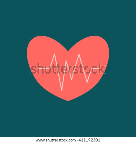 Heart beat.Useful as medical background - stock vector
