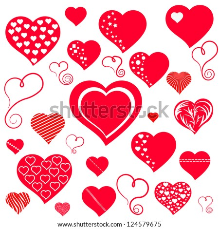 Heart. Collection for your design. - stock vector