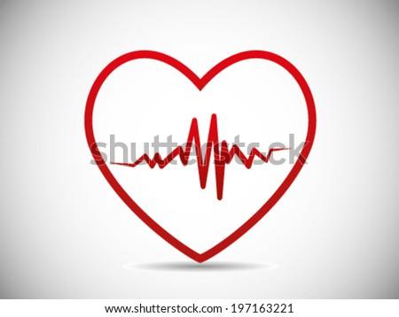 Heart Crack Pulse - stock vector