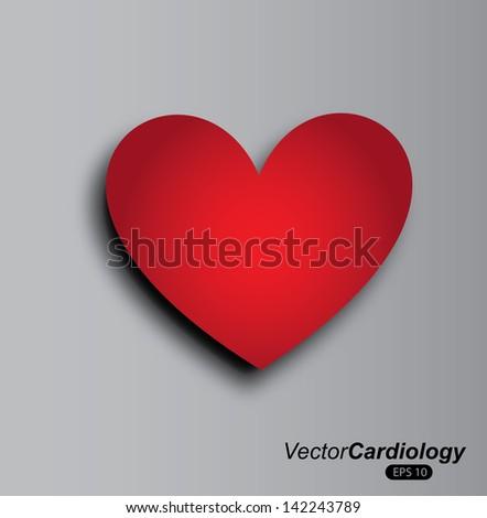 heart design over gray background vector illustration   - stock vector