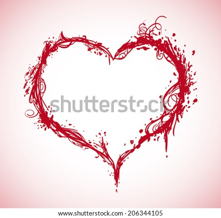 Heart design over pink background, vector illustration