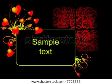 heart design valentine vector - stock vector