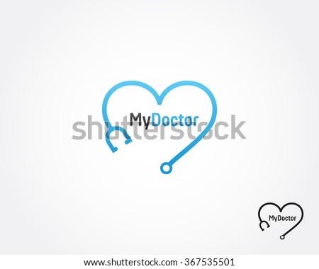 Heart, doctor,medical logo vector icon - stock vector