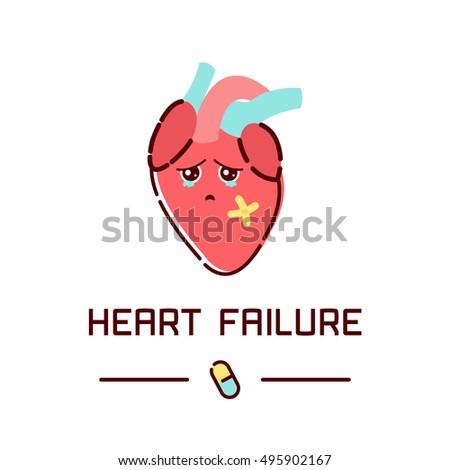 heart failure disease poster human body stock vector 495902167, Muscles