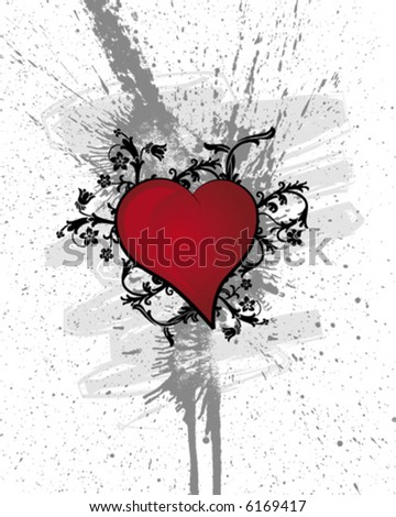 Heart Flowers - stock vector