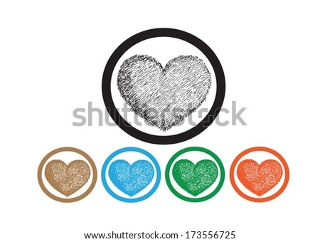 Heart for Valentines Day Background - stock vector