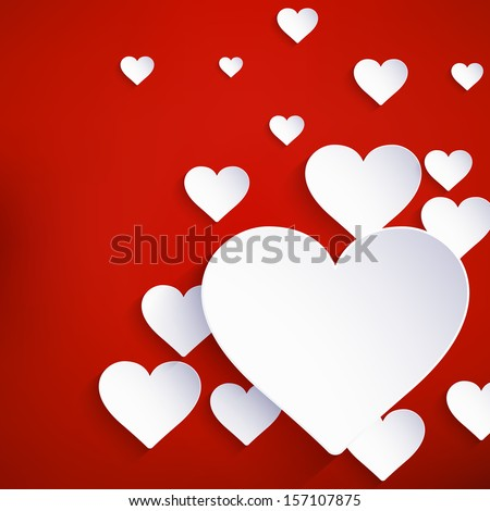 Heart for Valentines Day Background. And also includes EPS 10 vector - stock vector
