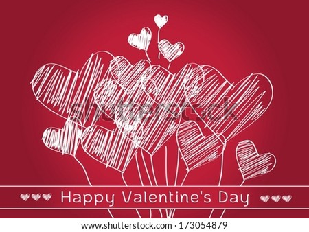 Heart for Valentines Day idea design - stock vector