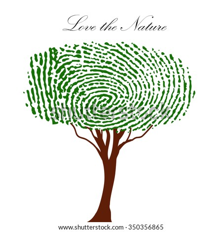fingerprint green tree stock vector 181263050 shutterstock Blue Abstract Circuit Background Circuit Letters Background