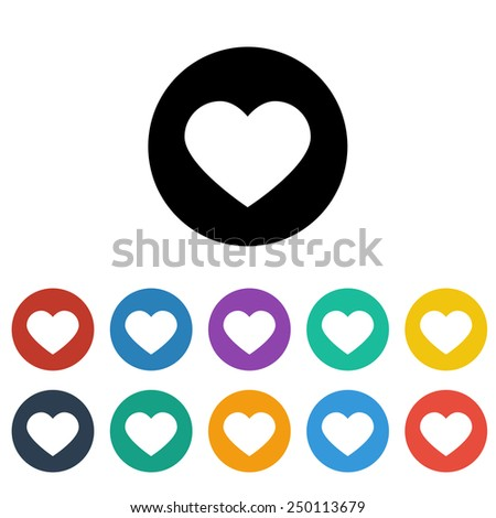 Heart icon - stock vector